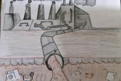 Exploring water pollution through Art workshop 02
