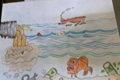 Exploring water pollution through Art workshop 07