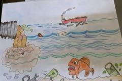 Exploring water pollution through Art workshop 07