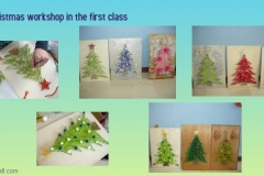 Christmas workshop in the first class