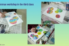 Christmas workshop in the third class