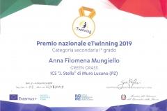 Premio nazionale eTwinning 2019 - DOCENTE