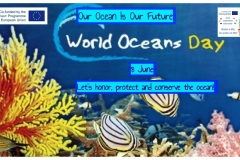 World Ocean Day 1 lesson in the second class 2 Blue